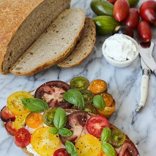 Ricotta Tomato Toast.
