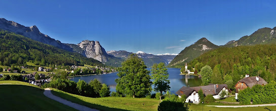 Photo: Panoramablick auf den Grundlsee