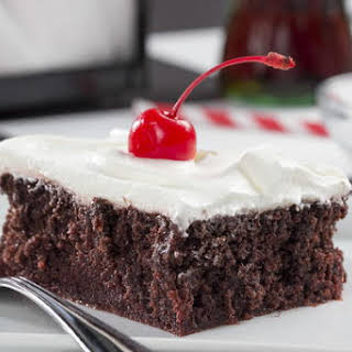 Chocolate Cherry Cola Poke Cake.