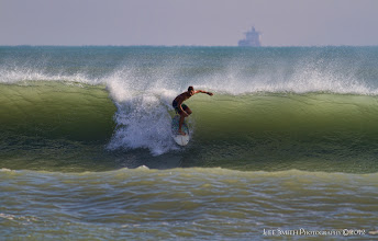 Photo: The waves were well formed but the bottom dictated where they closed out