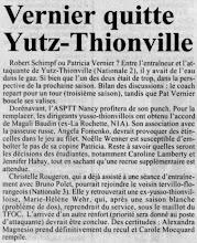 Photo: 12-06-97 Patricia Vernier quitte l'ASVB et sera remplacée par Magali Baudin