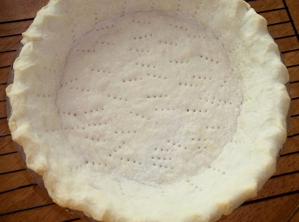 Prick your pie crust on the bottom and sides with a fork before baking.
