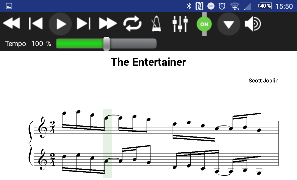 MusicXML 'n' MIDI - Sheet Music Reader and Player- screenshot