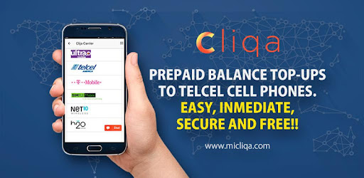 Recharge Telcel, Movistar and any Prepaid Cell - by CLIQA
