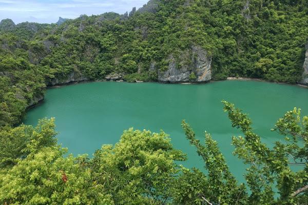 Overlooking the Emerald Lagoon on Mae Koh Island