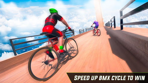 BMX Cycle Stunt Game: Mega Ramp Bicycle Racing  captures d'écran 1