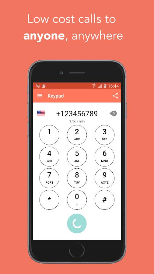 FooCall - low cost calls- screenshot