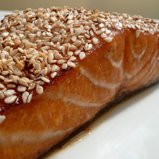 Sesame Crusted Honey Soy Salmon
