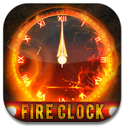 Fire Clock Analog Widget
