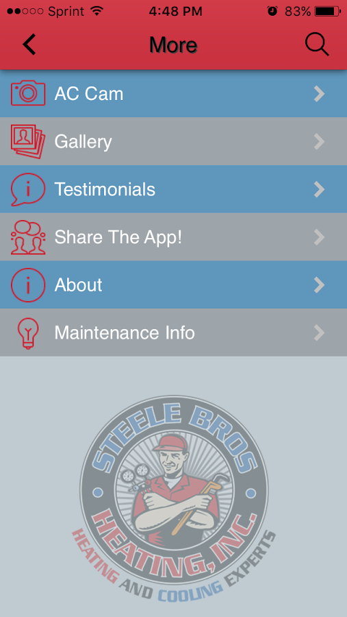 Steele Bros HVAC- screenshot