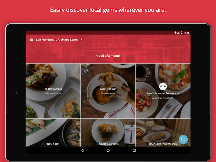Screenshot 6 for OpenTable's Android app'