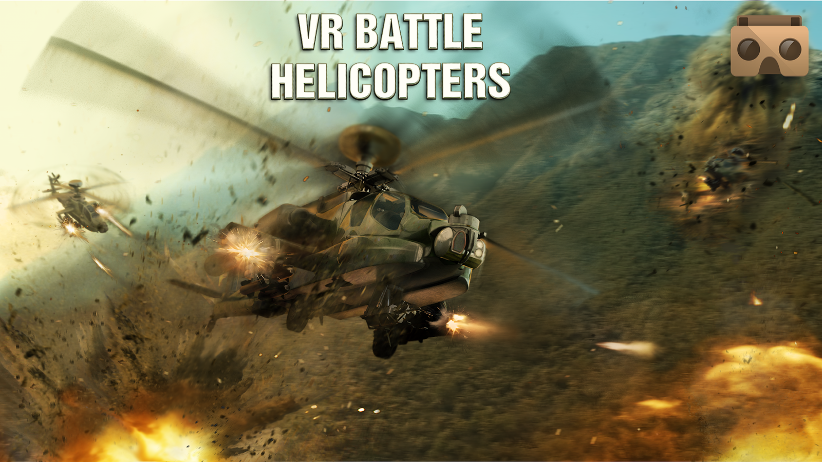 VR Battle Helicopters- tangkapan layar