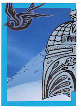 Photo: Wenchkin's Mail Art 366 - Day 207- Card 207a