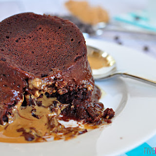 One-Minute Chocolate Peanut Butter Mug Cake.