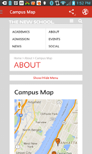 The New School Campus Map.The New School Apps On Google Play