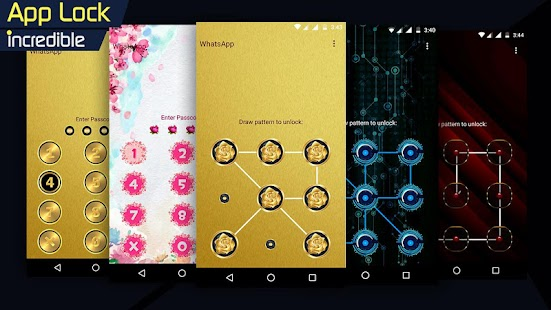 AppLock - Incredible (Fingerprint - Pattern Lock) Screenshot