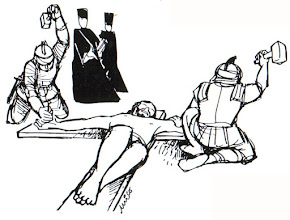 Photo: jesús clavado en cruz