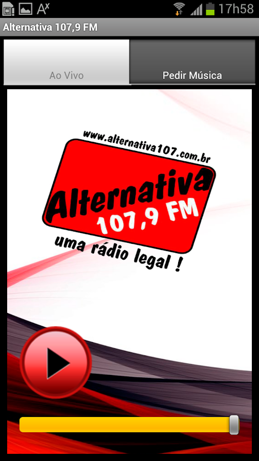 Alternativa 107,9 Mhz: captura de tela