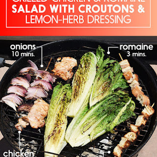 Grilled Chicken and Romaine Salad with Croutons and Lemon-Herb Dressing