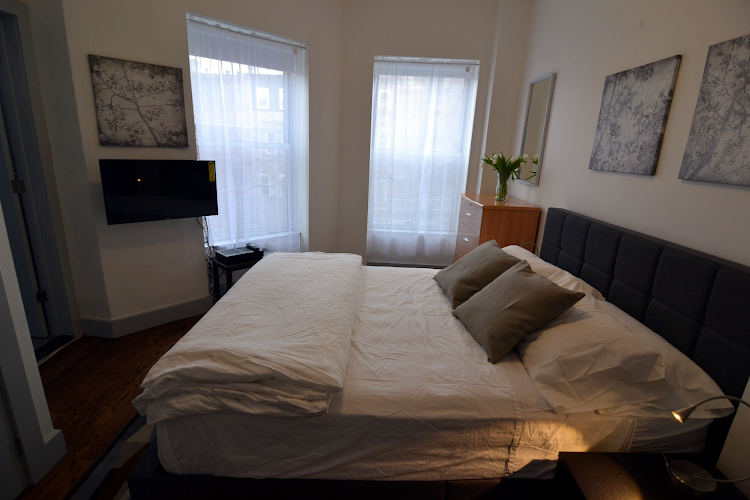 Luxury bedroom at Prospect Heights Apartments
