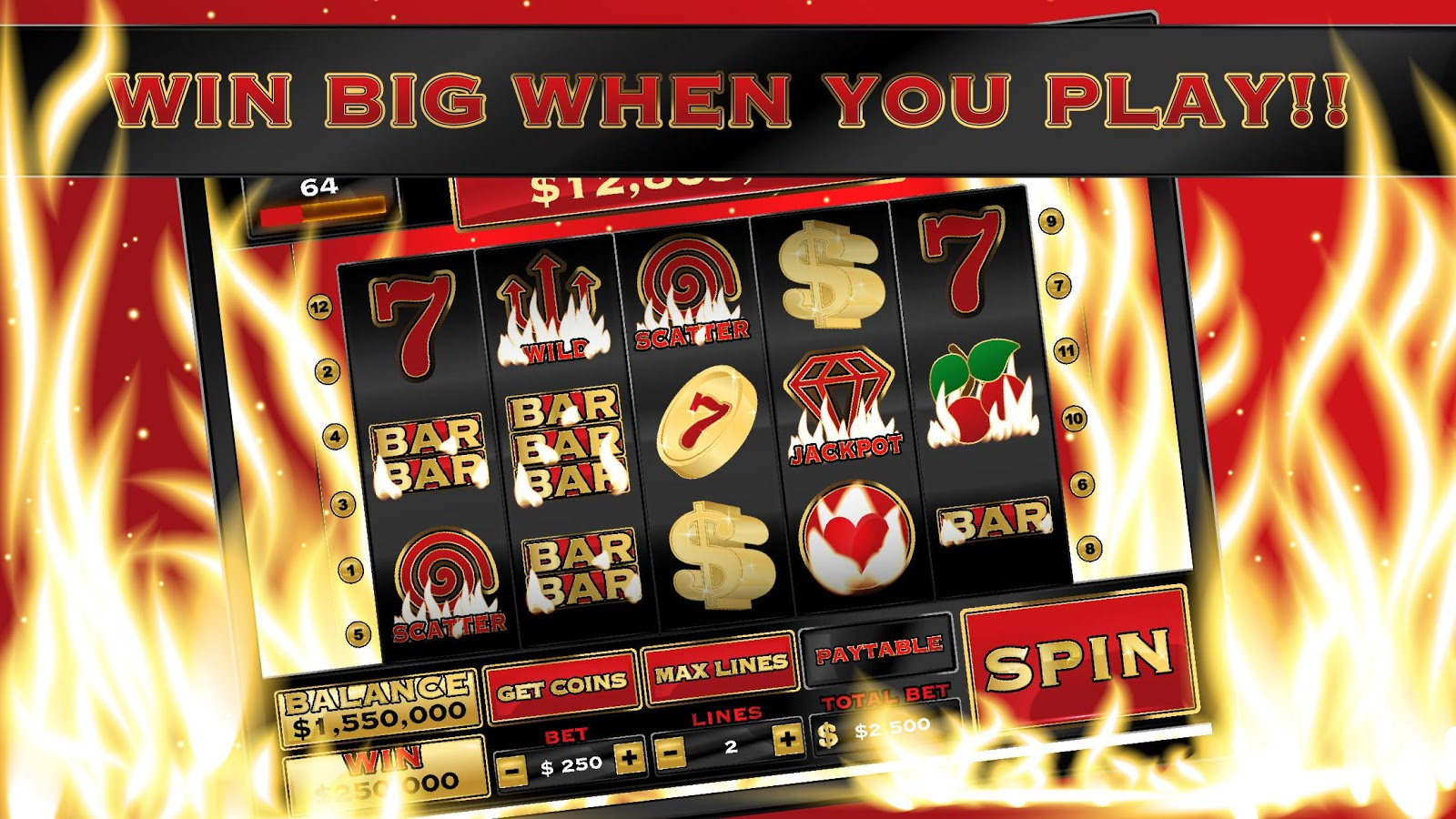 New Slots 2017 Burn Inferno- screenshot