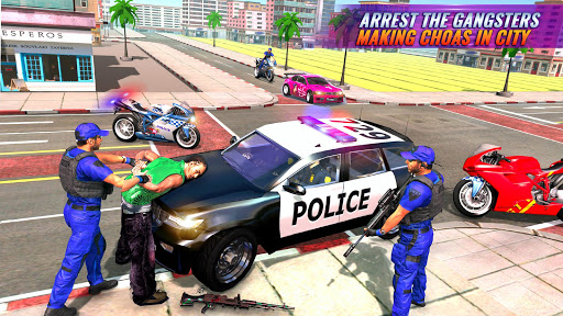 US Police Bike Gangster Chase Crime Shooting Games 1.0.7 screenshots 2