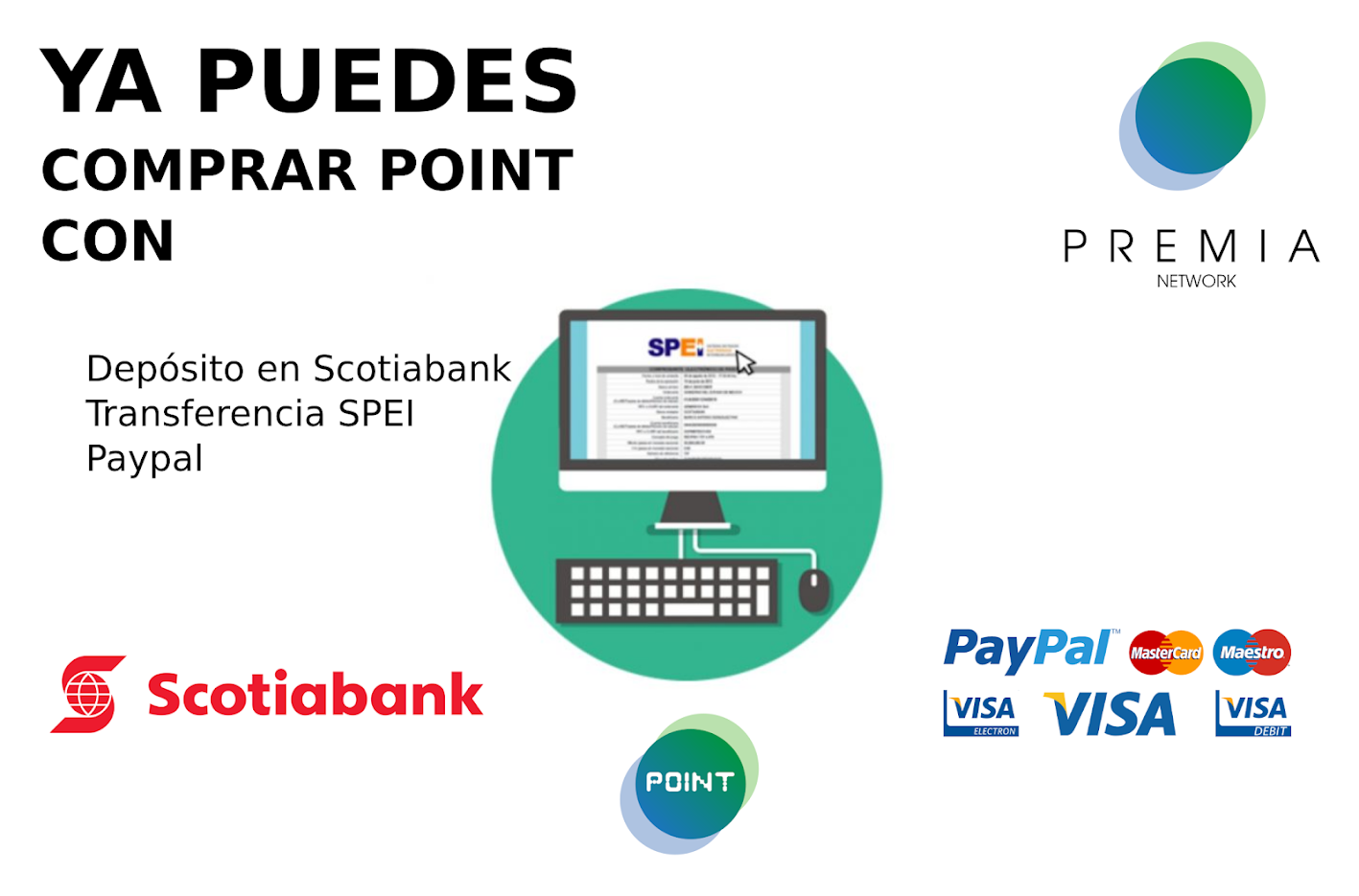 Compra POINT en Scotiabank y Paypal