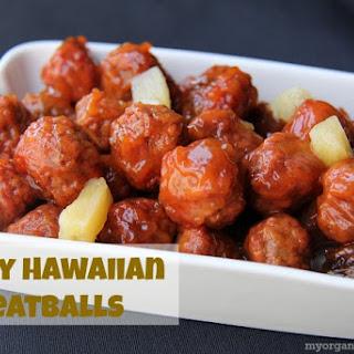 Slow Cooker Tangy Hawaiian Meatballs.