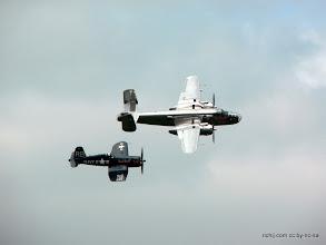Photo: B-25J Mitchell and F4U-4 Corsair