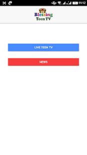Blessingteentv.tv Live Stream Application - náhled