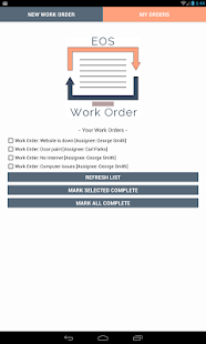 EOS Work Order- screenshot thumbnail