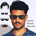 Men Mustache Beard Haircuts Icon