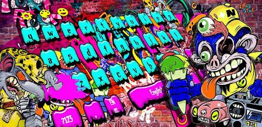 Rock Graffiti Keyboard Theme for PC