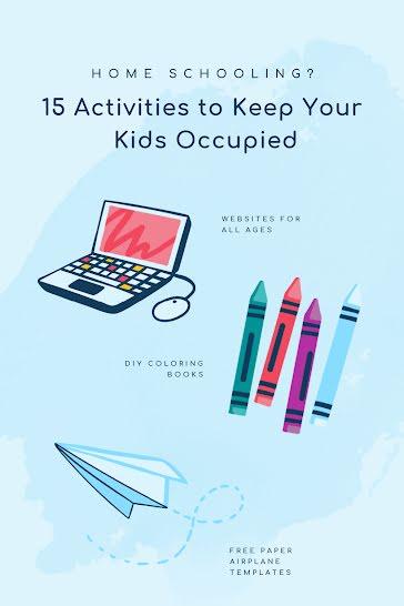 Home-School Activities - Pinterest Pin template