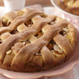 Apricot and Almond Lattice Coffee Cake