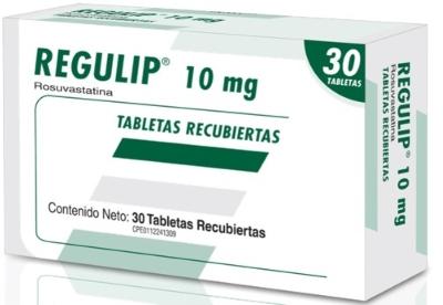 Rosuvastatina Regulip 10 Mg X 30 Tabletas