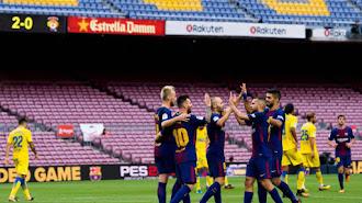 Messi ya sabe lo que es jugar sin afición en el Camp Nou.