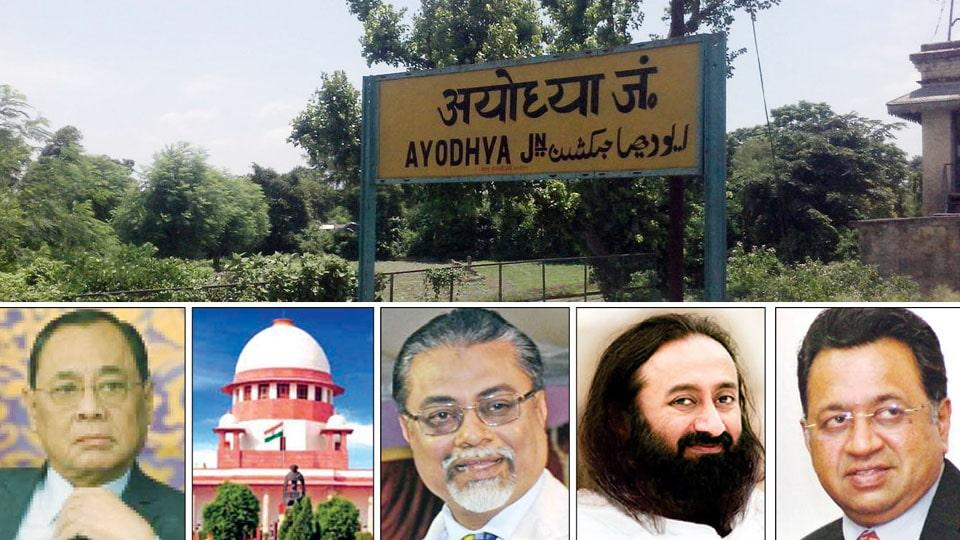 Image result for 3-member panel to mediate in Ayodhya dispute