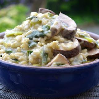 Green Garlic & Mushroom Risotto