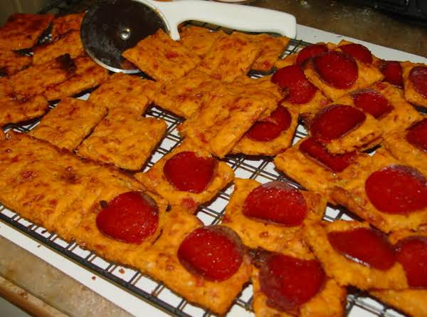 Tomato Cheese And Pepperoni Dog Biscuits
