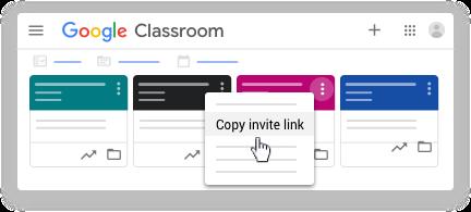 Copy invite link