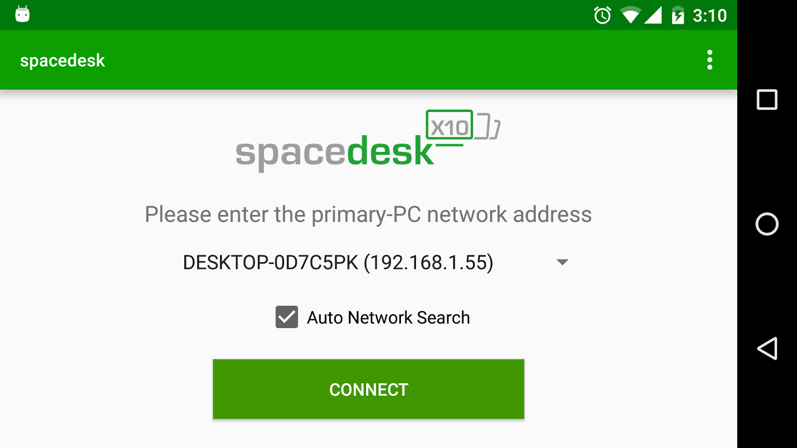 spacedesk (remote display)- screenshot
