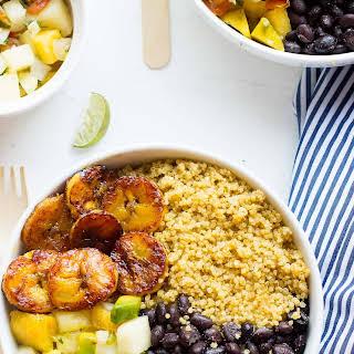 Cuban Quinoa Bowls with Pineapple Salsa.