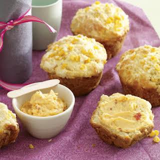 Chili Cheese Corn Muffins with Chili Butter.