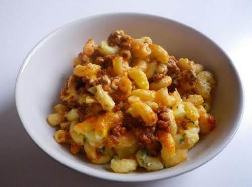 """Ground Beef Macaroni Casserole""""I made this tonight for dinner. SO EASY &..."""