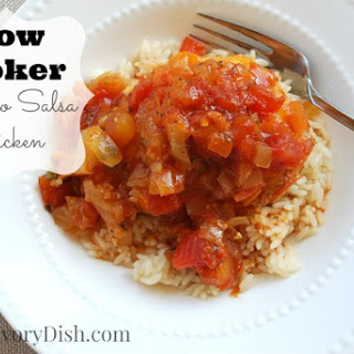 Crockpot Mango Salsa Chicken