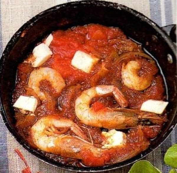 Greek Pan Fried Shrimp Garithes Saganaki Recipe