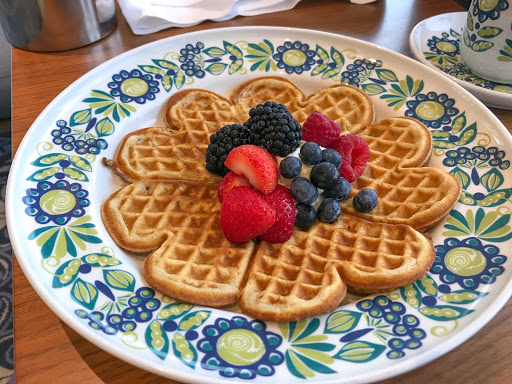 waffle-at-mamsens-1.jpg - Most mornings we started the day by heading to Mamsen's for their famed waffle dish for breakfast.