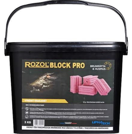 Rått-/musgift Rozol Block Pro 3 kg