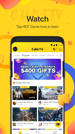 Cube TV - Live Stream Games Community 2.1.1 screenshots 1